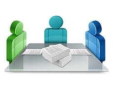 Совместная работа с принятыми и отправленными факсами